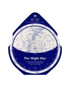 The Night Sky Planisphere 20°-30° Zone - Large