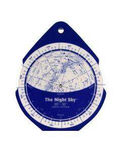The Night Sky Planisphere 20°-30° Zone - Small