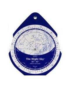 The Night Sky Planisphere 30°-40° Zone - Small