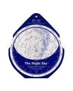 The Night Sky Planisphere 40°-50° Zone - Large