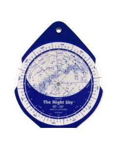 The Night Sky Planisphere 40°-50° Zone - Small